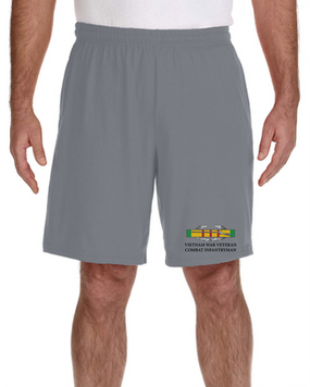 Vietnam Veteran -CIB Embroidered Gym Shorts
