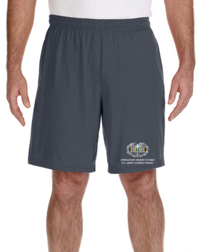 Desert Storm-CMB- Embroidered Gym Shorts