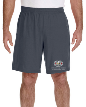 Operation Iraqi Freedom-CMB- Embroidered Gym Shorts