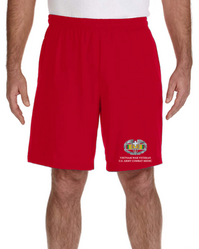 Vietnam Veteran-CMB- Embroidered Gym Shorts