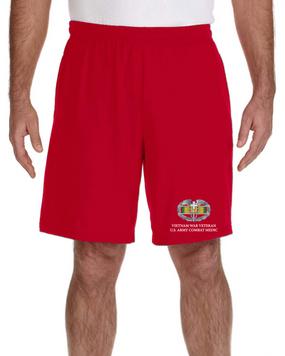 Vietnam Veteran-CMB- Embroidered Gym Shorts