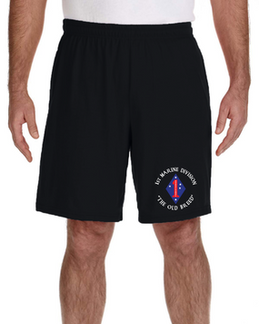 1st Marine Division Embroidered Gym Shorts