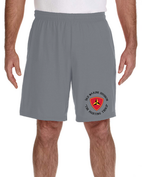 3rd Marine Division Embroidered Gym Shorts