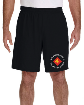4th Marine Division Embroidered Gym Shorts