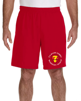 7th Marine Regiment Embroidered Gym Shorts