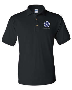 V Corps Embroidered Cotton Polo Shirt