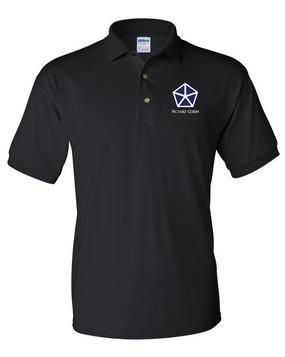V Corps Embroidered Cotton Polo Shirt