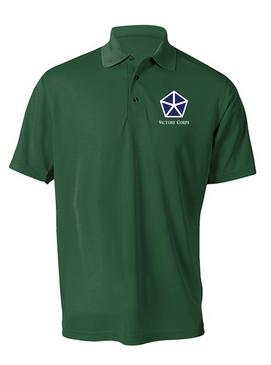 V Corps Embroidered Moisture Wick Polo Shirt