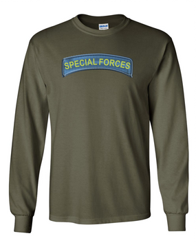 US Army Special Forces Long-Sleeve Cotton T-Shirt (FF)
