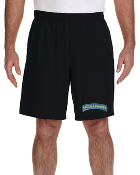 US Army Special Forces Tab Embroidered Gym Shorts