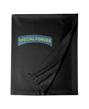 US Army Special Forces Tab Embroidered Dryblend Stadium Blanket