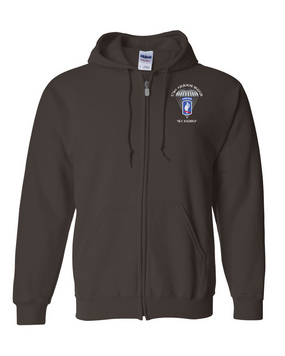 173rd Airborne Bde Embroidered Hooded Sweatshirt with Zipper