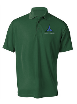 III Corps Embroidered Moisture Wick Polo Shirt