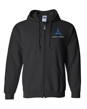 III Corps Embroidered Hooded Sweatshirt with Zipper