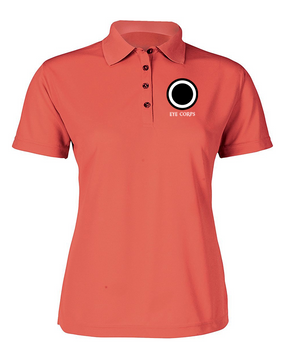 I Corps Ladies Embroidered Moisture Wick Polo Shirt