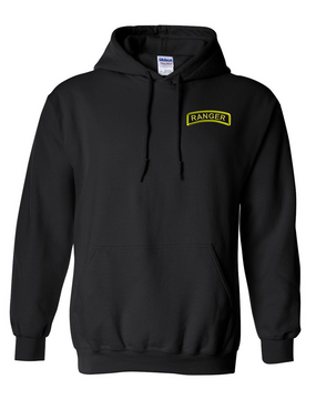 US Army Ranger Embroidered Hooded Sweatshirt