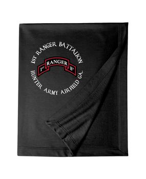 1-75th Ranger Battalion Embroidered Dryblend Stadium Blanket
