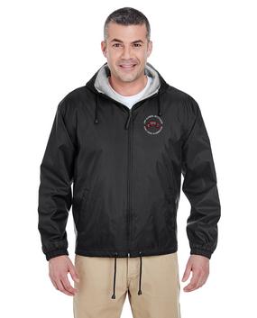 2-75th Ranger Battalion-Original Scroll Embroidered Fleece-Lined Hooded Jacket