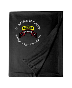1-75th Ranger Battalion-Tab Embroidered Dryblend Stadium Blanket