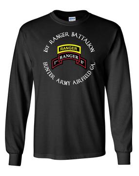 1-75th Ranger Battalion-Tab Long-Sleeve Cotton T-Shirt -FF