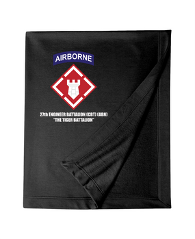 27th Engineer Battalion Embroidered Dryblend Stadium Blanket