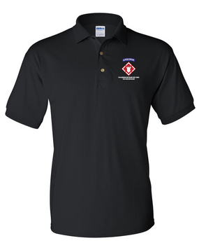 27th Engineer Battalion Embroidered Cotton Polo Shirt