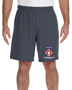 27th Engineer Battalion Embroidered Gym Shorts
