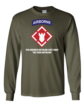 27th Engineer Battalion Long-Sleeve Cotton T-Shirt -FF