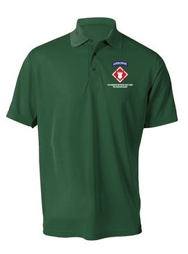 27th Engineer Battalion Embroidered Moisture Wick Polo Shirt