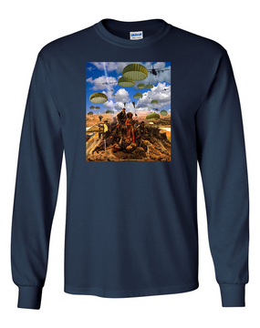 Custer's Last Stand Long-Sleeve Cotton T-Shirt