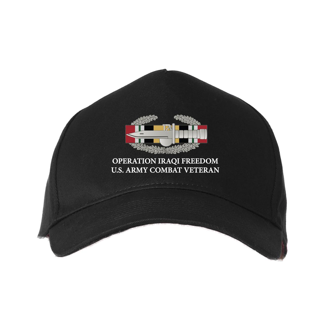 00578c66b8d Operation Iraqi Freedom-CAB- Embroidered Baseball Cap