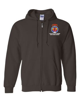 56th Field Artillery Command Embroidered Hooded Sweatshirt with Zipper