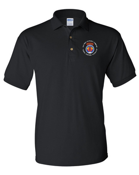 56th Field Artillery Command Embroidered Cotton Polo Shirt (C)