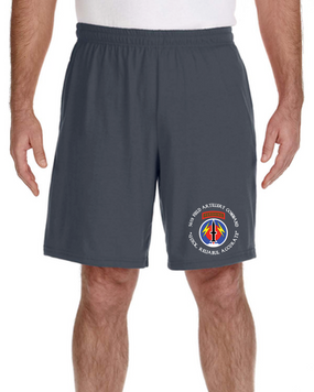 56th Field Artillery Command Embroidered Gym Shorts (C)