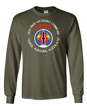 56th Field Artillery Command Long-Sleeve Cotton T-Shirt-FF  (C)