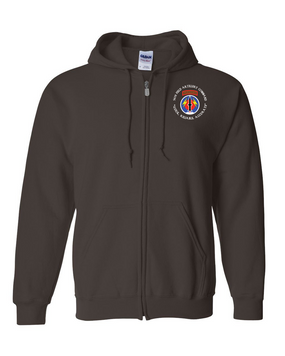 56th Field Artillery Command Embroidered Hooded Sweatshirt with Zipper (C)