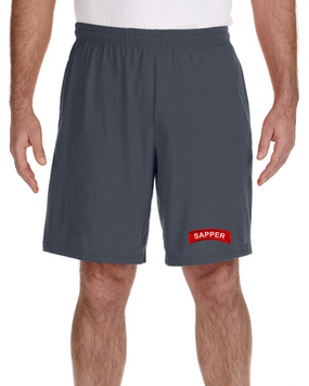 Sapper Embroidered Gym Shorts