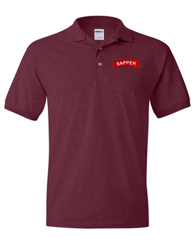 Sapper Embroidered Cotton Polo Shirt