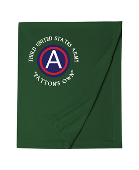 "3rd Army ""Patton's Own"" Embroidered Dryblend Stadium Blanket"