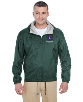 "3rd Army ""Patton's Own"" Embroidered Fleece-Lined Hooded Jacket (L)"