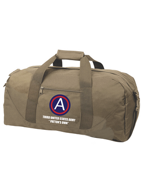 "3rd Army ""Patton's Own"" Embroidered Duffel Bag (L)"