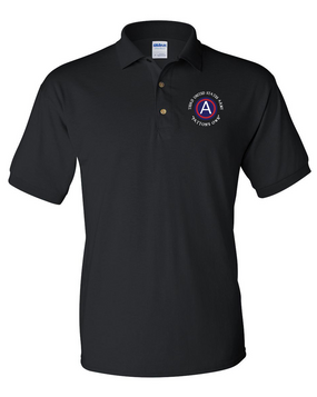 "3rd Army ""Patton's Own"" Embroidered Cotton Polo Shirt"