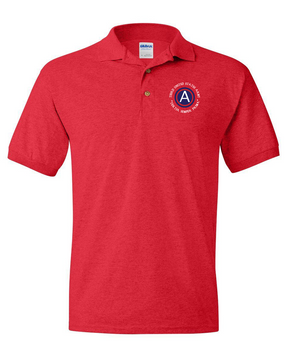 3rd Army  Embroidered Cotton Polo Shirt