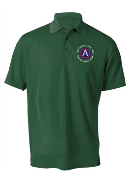 3rd Army  Embroidered Moisture Wick Polo Shirt