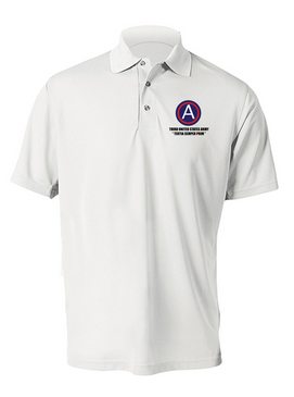 3rd Army  Embroidered Moisture Wick Polo Shirt (L)