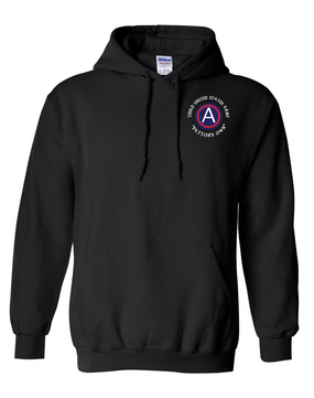 "3rd Army ""Patton's Own"" Embroidered Hooded Sweatshirt"