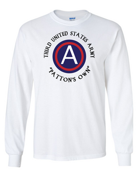 "3rd Army ""Patton's Own"" Long-Sleeve Cotton T-Shirt -FF"