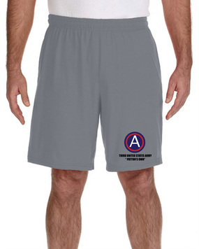 "3rd Army ""Patton's Own"" Embroidered Gym Shorts (L)"