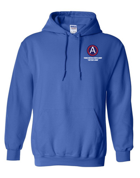 """3rd Army """"Patton's Own"""" Embroidered Hooded Sweatshirt (L)"""