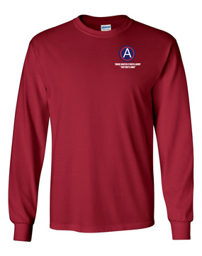 "3rd Army ""Patton's Own"" Long-Sleeve Cotton T-Shirt (L)"